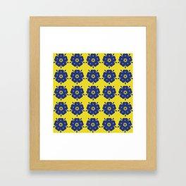 Japanese Samurai flower Framed Art Print