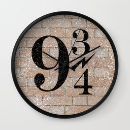 9 3/4 Nine and three-quarters platform King's Cross station london harry Wall Clock