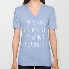Not Being A Mermaid Funny Quote Unisex V-Neck