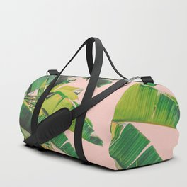 Palm Tree Leaves III (Pink) Duffle Bag