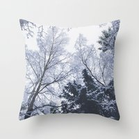 cities Throw Pillows featuring Scared cities by HappyMelvin
