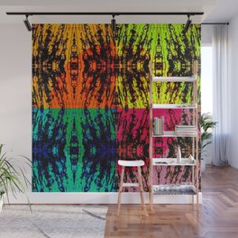4 different squares Wall Mural