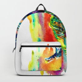 Watercolor Rainbow Seahorse Backpack