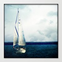 milwaukee Canvas Prints featuring Milwaukee Sailing by Dawn East Sider
