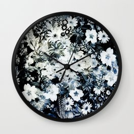 Antique Floral Chintz Wall Clock