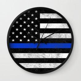Thin Blue Line Flag 2 Wall Clock
