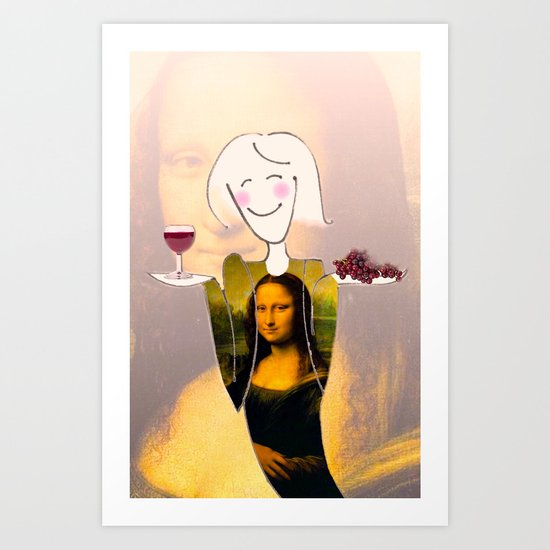 She Hearts Mona Art Print