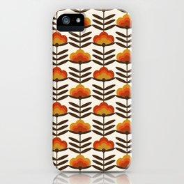 Boogie - retro florals minimal trendy 70s style throwback flower pattern iPhone Case