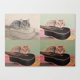 Music to Her Ears x 4 Canvas Print