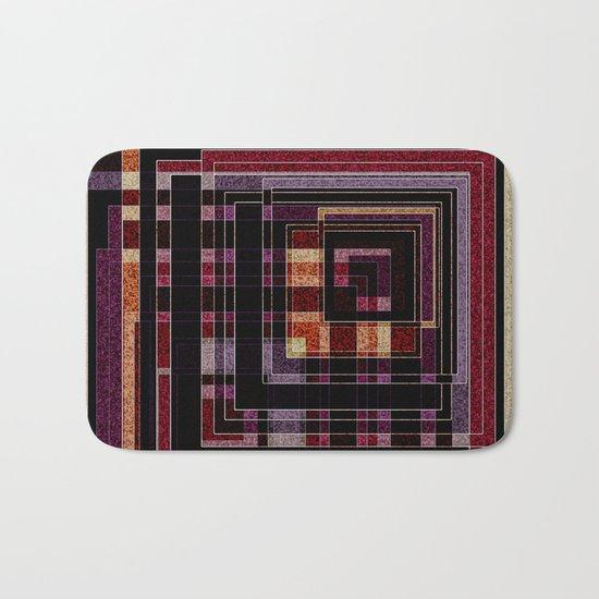"Abstract pattern ."" Squares "".  Bath Mat"