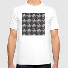 Mid Century BW tile pattern MEDIUM White Mens Fitted Tee