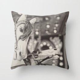 Kid at heart - Black & White Throw Pillow