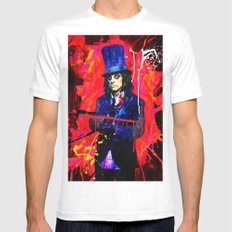 Alice Cooper White Mens Fitted Tee SMALL