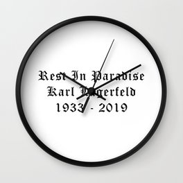 Rest in paradise Karl Calligraphy Wall Clock