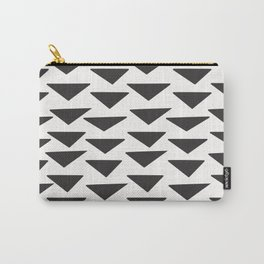 7-1010-0-P1, Black rounded triangles, big size, Carry-All Pouch