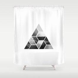Tessellate Triangle Mountain Shower Curtain