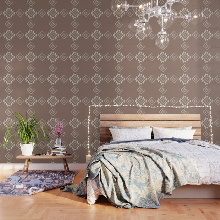 Aztec Print In Dust Wallpaper By Nicoledavis