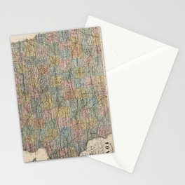 Vintage Map of Iowa (1875) Stationery Cards