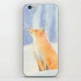 Fox in the snow iPhone Skin