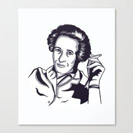 Hannah Arendt Canvas Print