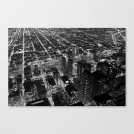 Chicago Overview at Night Canvas Print