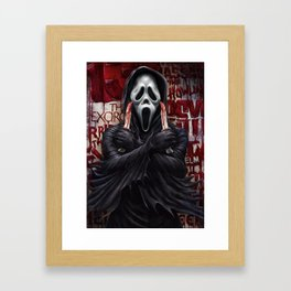 What's your favorite scary movie? Framed Art Print