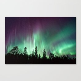 Colorful Northern Lights, Aurora Borealis Canvas Print