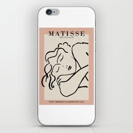Henri matisse sleeping woman, matisse cut outs, cream and pink iPhone Skin