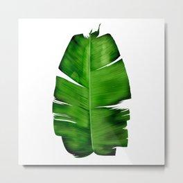 Banana Leaf Painting Metal Print