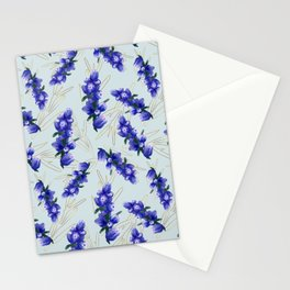 Hand painted watercolor lavender flower bloom, provence Stationery Cards