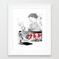 akira Framed Art Prints featuring Akira by SKTCHY!