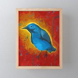 Glo Bird is Feeling Himself Framed Mini Art Print