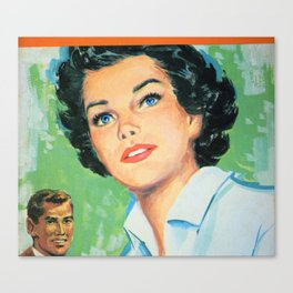 Black Haired Beauty Canvas Print