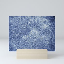 Vibrant Blue Decay Texture Mini Art Print