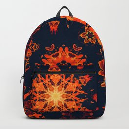 warm watercolor snowflakes Backpack