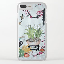 Chinese Art Clear iPhone Case