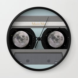 The Moon Mix Tape Wall Clock