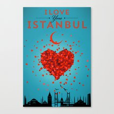 I Love You Istanbul Canvas Print