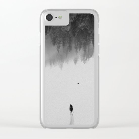 Silent Walk - B&W version Clear iPhone Case