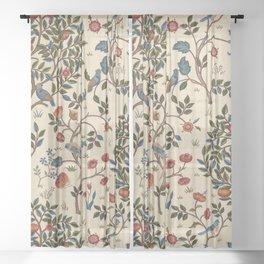 "William Morris ""Kelmscott Tree"" 1. Sheer Curtain"