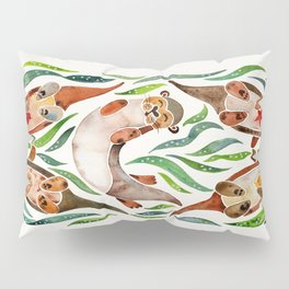 Five Otters – Green Seaweed Pillow Sham