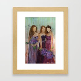 Bridesmaid Sista Trio Framed Art Print