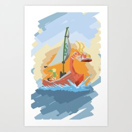 King of Red Lions. Art Print