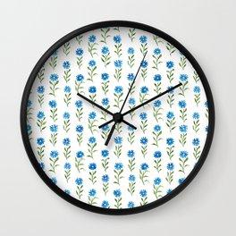 bluebutton wildflowers Wall Clock
