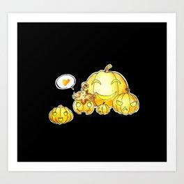 Pumpkaboo Art Print