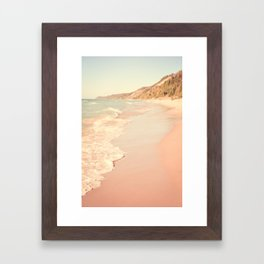 Her Mind Wandered Back and Forth With the Waves Framed Art Print