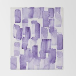 Purple Watercolour Patterns   190129 Abstract Art Watercolour Throw Blanket
