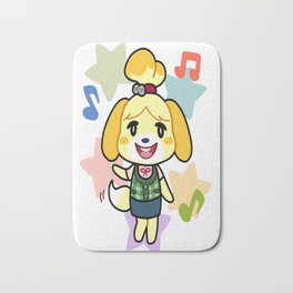 Isabelle of Animal Crossing Bath Mat