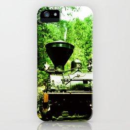 Train at Sugar Pine Railroad iPhone Case