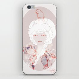 Portrait with Chick iPhone Skin